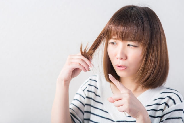 髪の毛の悩み